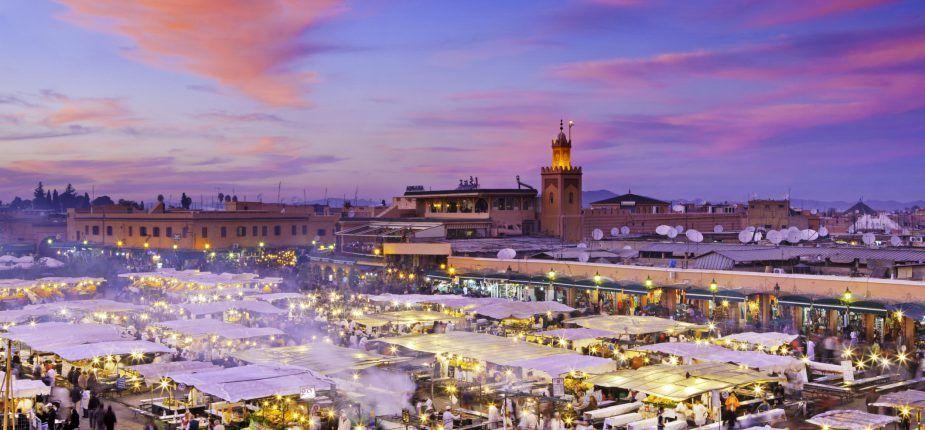 visiter la ville rouge en location voiture Marrakech